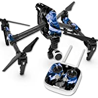 Skin For DJI Inspire 1 Quadcopter Drone – Blue Roses | MightySkins Protective, Durable, and Unique Vinyl Decal wrap cover | Easy To Apply, Remove, and Change Styles | Made in the USA
