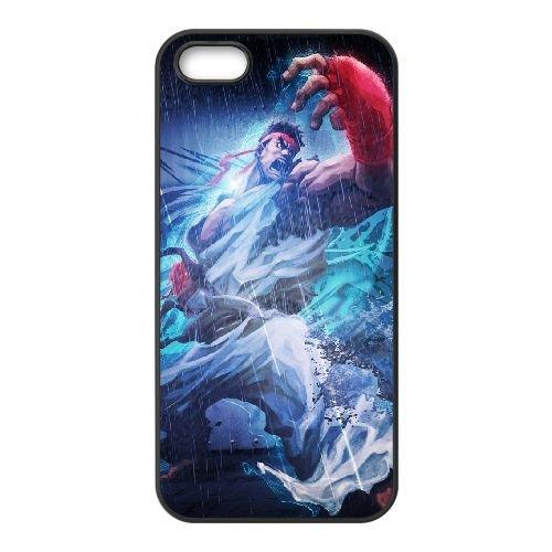 Street Fighter X Tekken Ryu Angry Rain Clothes 22210 coque iPhone 4 4s cellulaire cas coque de téléphone cas téléphone cellulaire noir couvercle EEECBCAAN04299