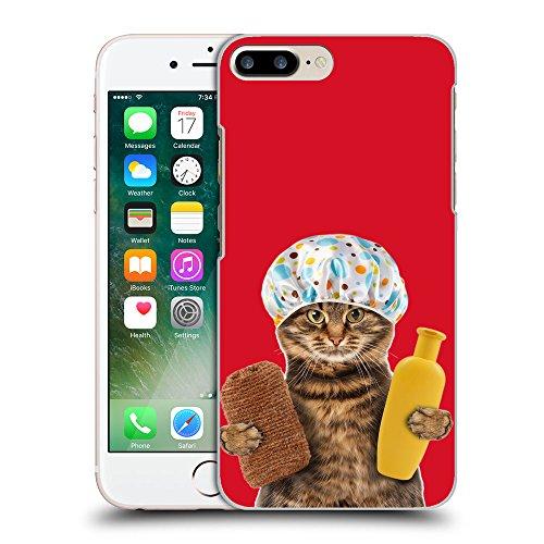 GoGoMobile Coque de Protection TPU Silicone Case pour // Q05610624 Chat bain Cadmio Red // Apple iPhone 7 PLUS