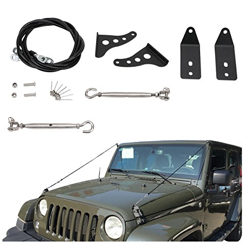 Limb Riser Kit jungle Protector Obstacle Eliminate Rope For Jeep Wrangler JK - Metal Trim Rope