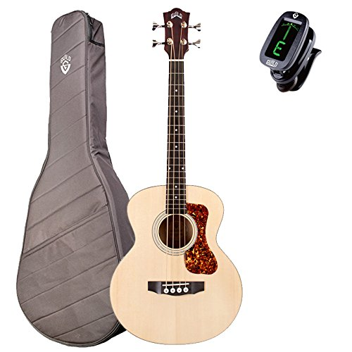 Guild Jumbo Junior Bass Acoustic-Electric Compact 4-String Bass Guitar With Deluxe Gig Bag 383-5604-804