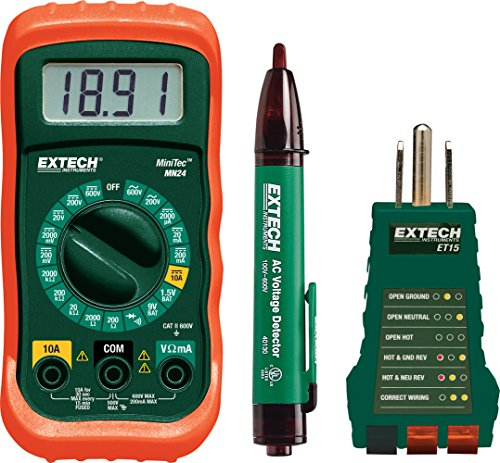 Electrical Tester Voltage (Extech MN24-KIT Electrical Test Kit)