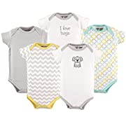 Luvable Friends Cotton Bodysuit, 5 Pack, Koala, 3-6 Months