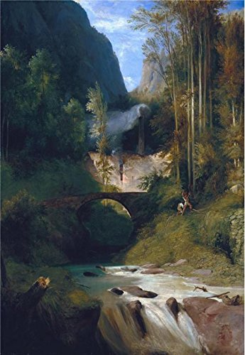 High Quality Polyster Canvas ,the Amazing Art Decorative Canvas Prints Of Oil Painting 'Carl Blechen-Gorge Near Amalfi,1831', 8x12 Inch / 20x29 Cm Is Best For Gym Gallery Art And Home Artwork And (Deluxe Teen Jason Costume)