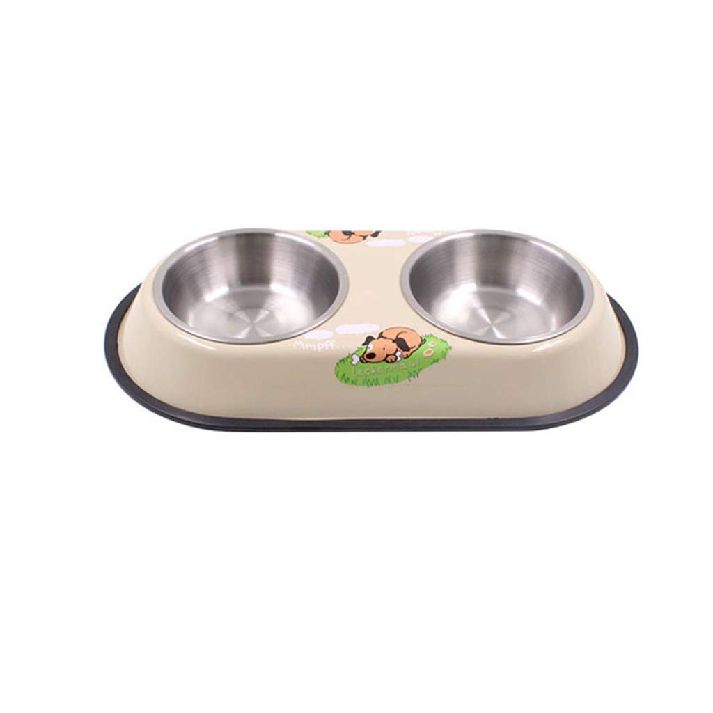 Coffee color M Coffee color M NYDZDM Dog Bowl Stainless Steel Travel Feeding Feeder Water Bowl for Pet Dog Cat Puppy Food Bowl Water Dish (color   Coffee color, Size   M)