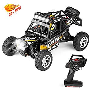 Geekper LED Light Remote Control Car, Terrain RC Cars, Electric Remote Control Off Road Monster Truck, 1:18 Scale 2.4Ghz Radio 4WD Fast 30+ MPH RC Car, with 1 Rechargeable Batteries