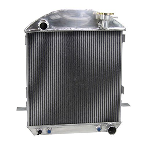 ALLOYWORKS 3 Row Aluminum Radiator for 1924-27 Ford Model T Bucket Grill Shells Chevy Engine (T Radiator Bucket)