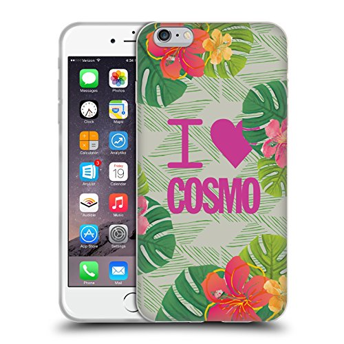 Official Cosmopolitan I Heart Tropical Soft Gel Case for Apple iPhone 6 Plus / 6s Plus