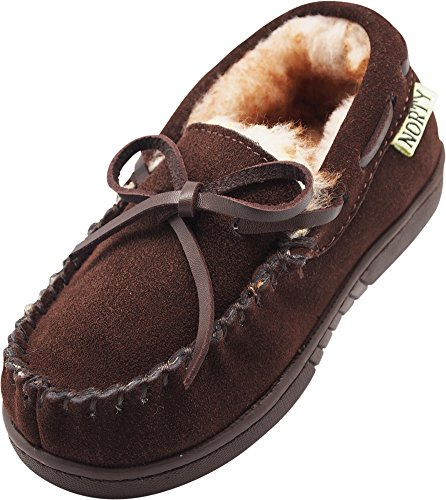 - NORTY - Toddler Boys Suede Moccasin Slipper, Chocolate 40104-7MUSToddler
