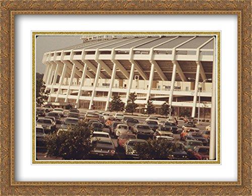 Stadium Atlanta Fulton (Atlanta–Fulton County Stadium 2x Matted 36x28 Large Gold Ornate Framed Art Print from the Stadium Series)