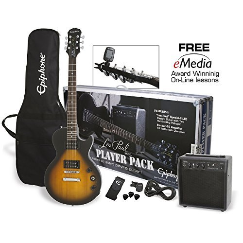 Epiphone Les Paul Electric Guitar Player Package, Vintage Su