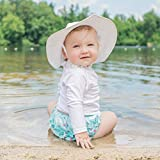 i play. Baby Brim Sun Protection Hat, White, 0-6