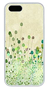 iPhone 5S Case, iPhone 5 Cover, iPhone 5S Poppy Buds Vintage Art Hard White Cases