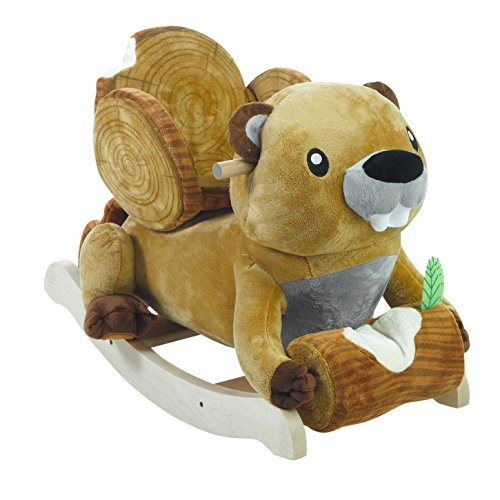 Rockabye Buckee Beaver Rocker Ride On by Rockabye