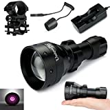 UniqueFire UF-1503 IR 940NM T50 50mm Lens Infrared Light Night Vision Flashlight Torch + 18650 Charge + Pressure Switch + QQ07 Scope Mount Kit Set