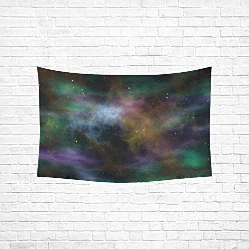 YUMOING Space Science Fiction Cosmos Blue Fantasy Tapestry Abstract Painting Wall Hanging Home Decor For Living Room Bedroom Dorm Room 60