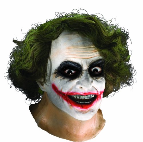 The Joker Mask (Batman The Dark Knight Adult Joker Latex Mask With Hair, Adult One Size)