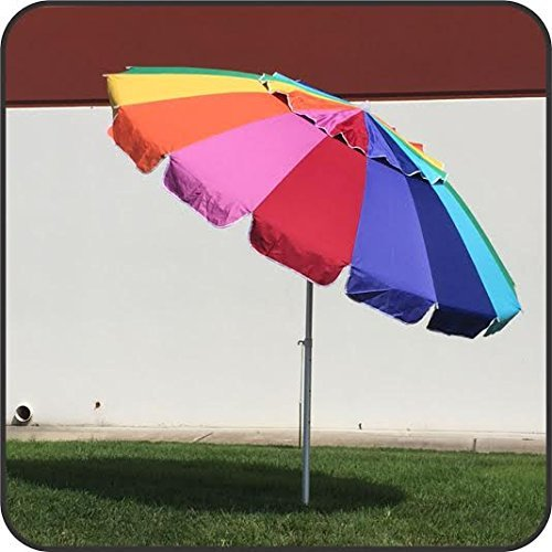 Easygo 8 Foot Heavy Duty High Wind Beach Umbrella Giant