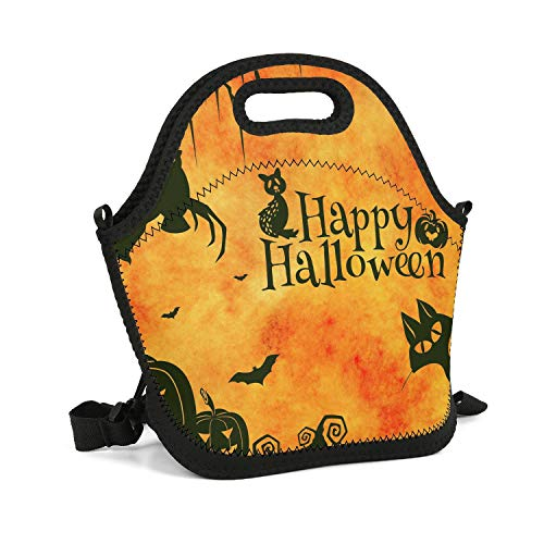 Cool Lunch Box Happy Halloween Sketch Insulated Resuable Thermal Durable Leakproof Recycled Healthy Outdoor Beach Lunch Container -