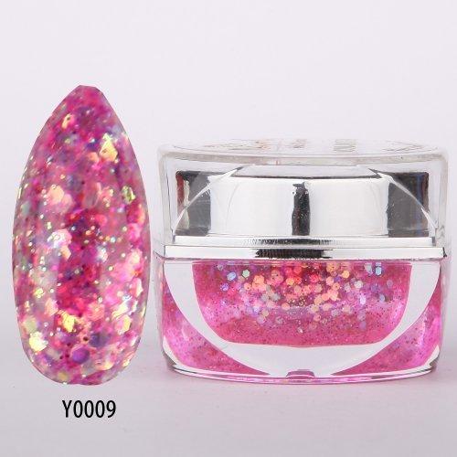 Glitter Uv Builder Gel - nail_world365 20ML 0.8OZ High Quality Soak Off UV Gel Shiny Colors Glitter Powder Nail Art Builder Gel 009 by nail world365