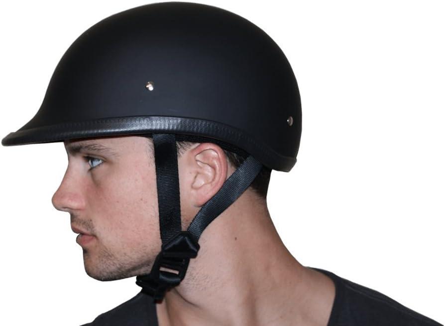 Dull Black 100/% DOT Approved Daytona Helmets Motorcycle Half Helmet Hawk