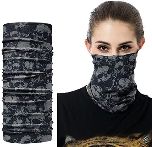 9PCS Seamless Rave Bandana Unisex Neck Gaiter Scarf Tube UV Dust Wind Motorcycle Headwear Face Scarf Women Men