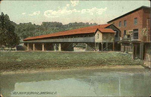 (Old South Street Bridge Zanesville, Ohio Original Vintage)