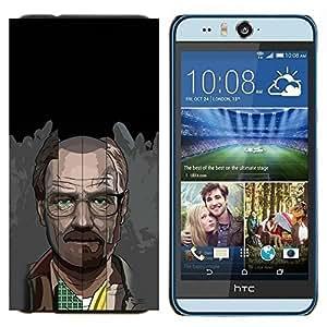 TECHCASE---Cubierta de la caja de protección para la piel dura ** HTC Desire Eye ( M910x ) ** --Meth Cocine