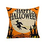 Pillow Case Neartime Halloween Sofa Bed Home Decor Pillow Case Cushion Cover (Free, D)