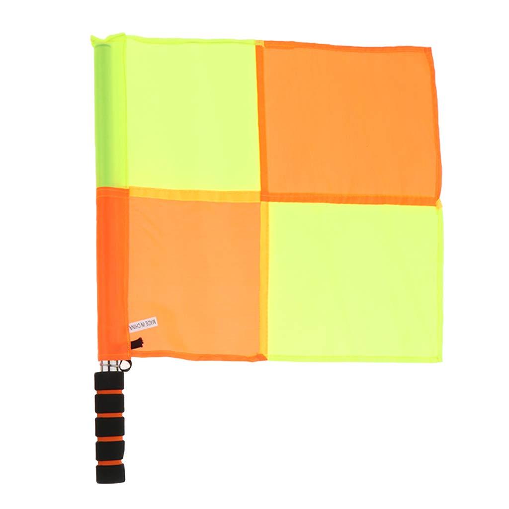 Orange Gelb perfeclan 1 Paar Schiedsrichter Flaggen mit Tragetasche Wasserdicht