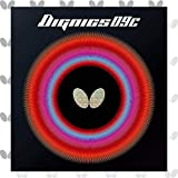 Butterfly Dignics 09C Table Tennis Rubber - 1.9 or 2.1 mm - Red or Black - 1 Inverted Table Tennis Rubber Sheet - Professional Table Tennis Rubber - Rubber of Choice for Timo Boll