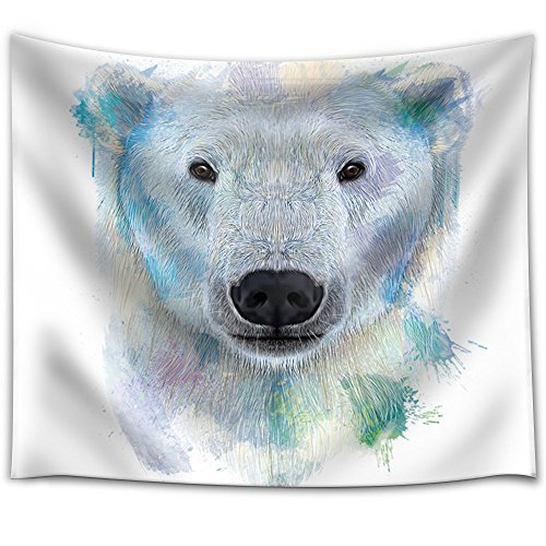 Fun and Colorful Splattered Watercolor Polar Bear