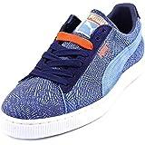 Puma Suede Mis-Match Suede Sneakers (10, Little Boy Blue/Peacoat/Blue)