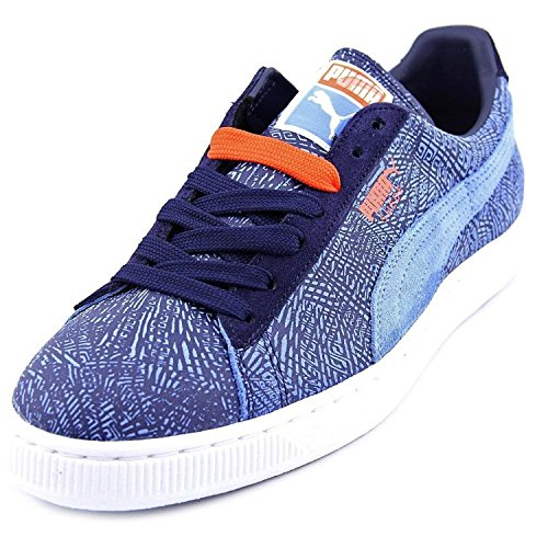 Sneakers In Camoscio Mis-match Scamosciato Puma (10, Ragazzino Blu / Peacoat / Blu)