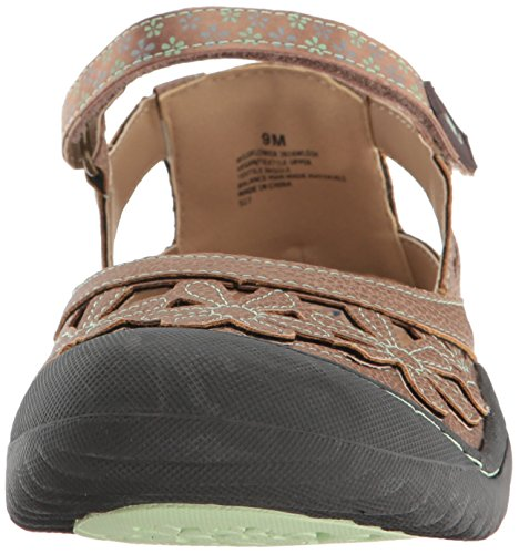 Jbu Da Jambu Womens Flatflower Wildflower Mary Jane Espresso