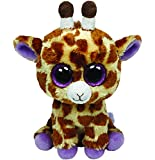 TY - Safari, peluche jirafa, 15 cm, color amarillo (36011TY)