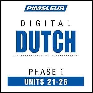 Dutch Phase 1, Unit 21-25 Audiobook
