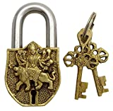 Decorative Goddess Sherawali Maa Design Padlock Home Decor Handcrafted Locks