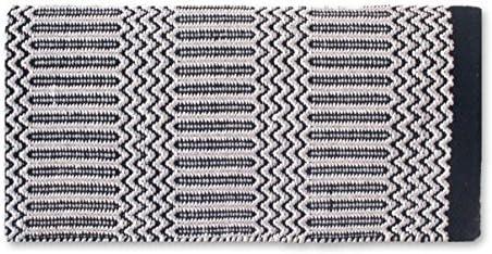 1340-2 Mayatex Ramrod Doubleweave Saddle Blanket Black//Gray 32 x 64-Inch Mayatex Inc