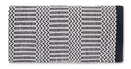 Mayatex Ramrod Doubleweave Saddle Blanket, Black/Gray, 32 x 64-Inch
