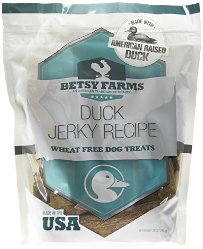 Betsy Farms Natural Jerky Recipe Dog Treats   Duck Jerky Dog Treats  28 Oz
