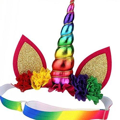 (Unicorn headband - first birthday - Unicorn Party - Unicorn Horn - Headband - Baby unicorn - Party Favor - Unicorn Birthday - unicorn first birthday - 1st birthday -)