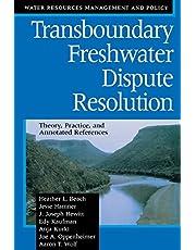Transboundary Freshwater Dispute Resolut