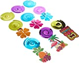 Amscan Sun-Sational Summer Luau Tropical Tiki Swirl Decorations Mega Pack, 30 Pieces, Made from Paper, Multicolor, by