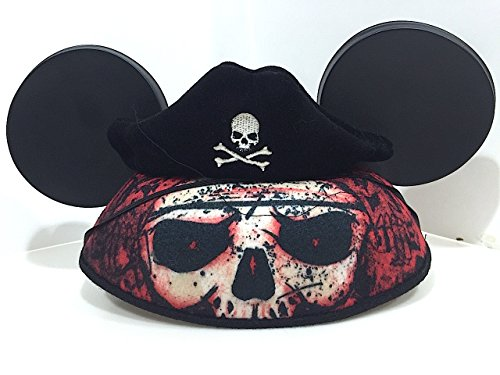 Disney Parks Mickey Mouse Ears Pirate Cap Hat NEW Adult Size Pirates]()
