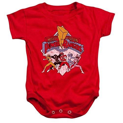 Power Ranger Bodysuit (Infant Power Rangers Retro Rangers Infant Onesie Size 6 Mos)