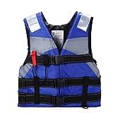 Ezyoutdoor Kids Life Jacket Vest Lightweight Multi-function Foam Reflective Foam Swimming Life Jacket Vest for Drifting Snorkel Fishing for Children
