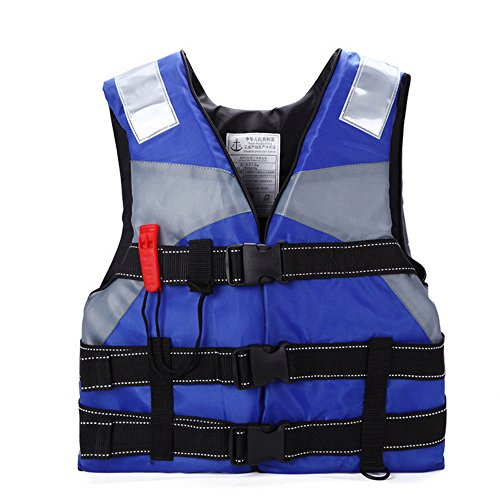 Ezyoutdoor Kids Life Jacket Vest Lightweight Multi-function Foam Reflective Foam Swimming Life Jacket Vest for Drifting Snorkel Fishing for Children (Cute 11 Year Old Guys)