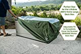 YardStash Deck Box Cover XL to Protect Large Deck Boxes: Lifetime 60012 Extra Large Deck Box Cover, Suncast DBW9200 Deck Box Cover, Rubbermaid 5E39 Deck Box Cover & Rubbermaid w/Seat Deck Box Cover