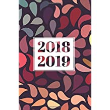 "2018-2019: 18-Month Daily Planner, July 2018 – December 2019, Swirl Pattern, 6""x9"""